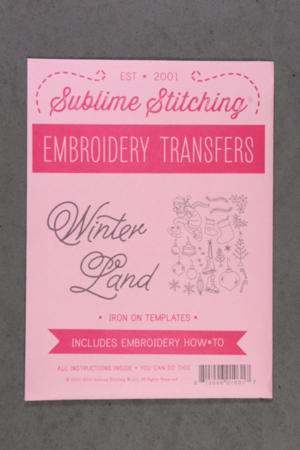 Sublime Stitching Embroidery Transfers Pattern