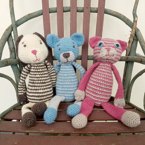 Amigurumi Cat, Bunny and Bear Workshop