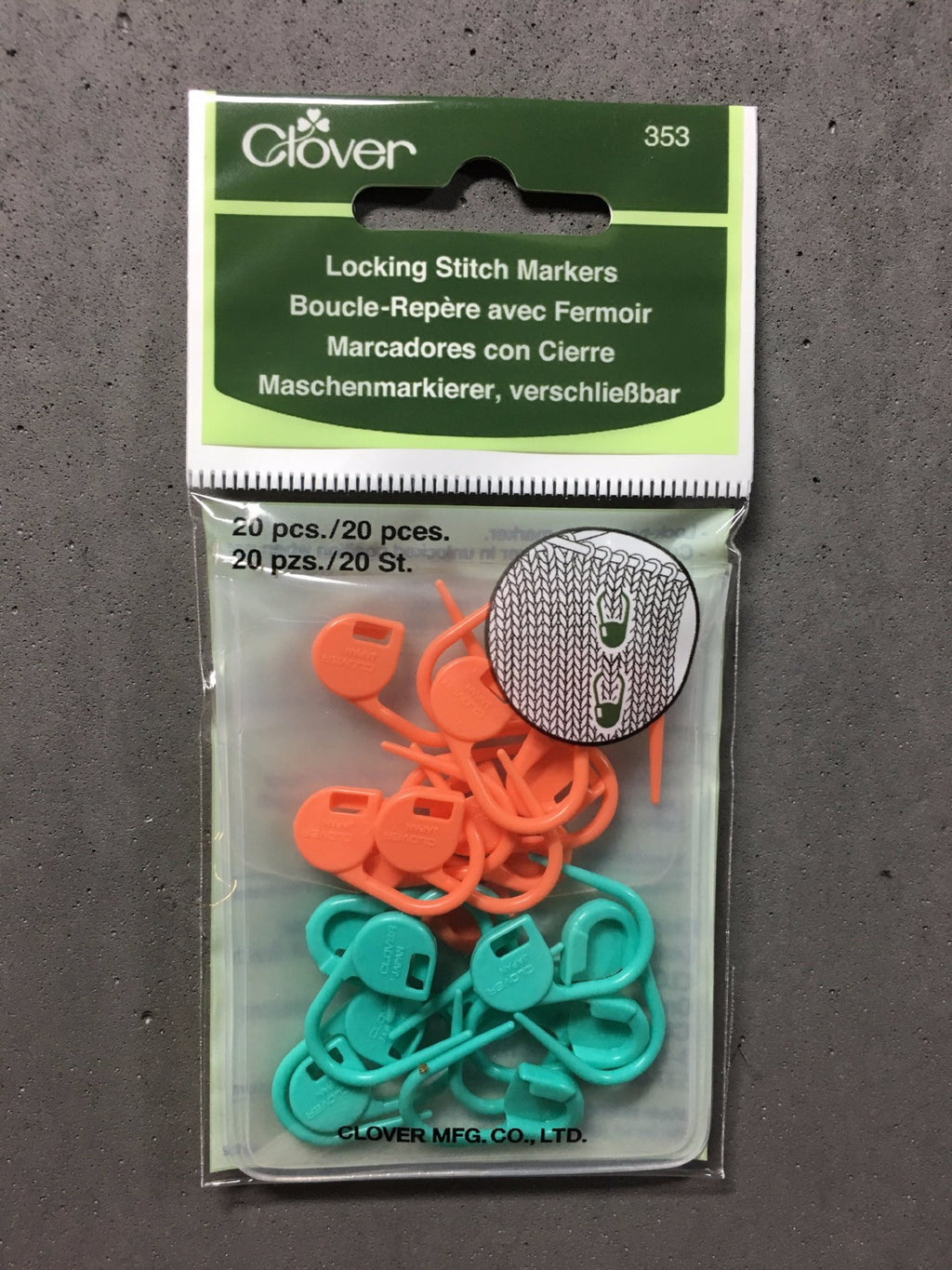 Clover Locking Stitch Markers 353