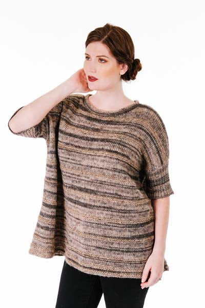 Trendsetter Tiger & Icon Striped Wide Pullover