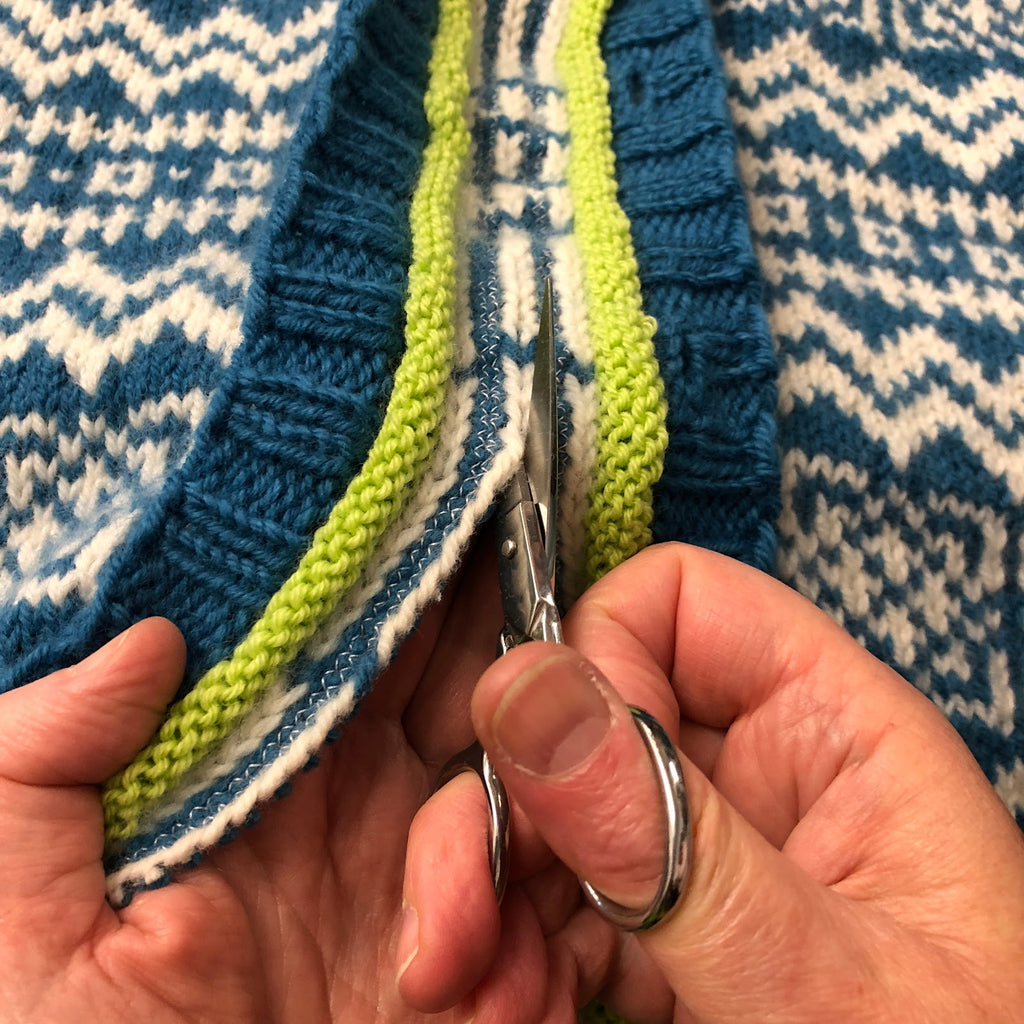 Learn Steeking on a Baby Sweater!