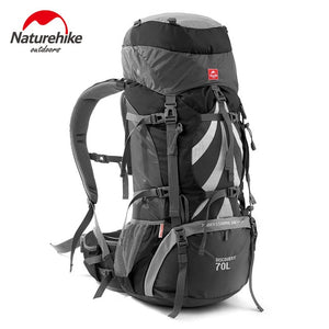 Open image in slideshow, NatureHike 70L Backpack Nylon Waterproof Mountaineering