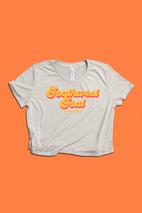 'Southwest Soul' Crop Tee, Orange Logo