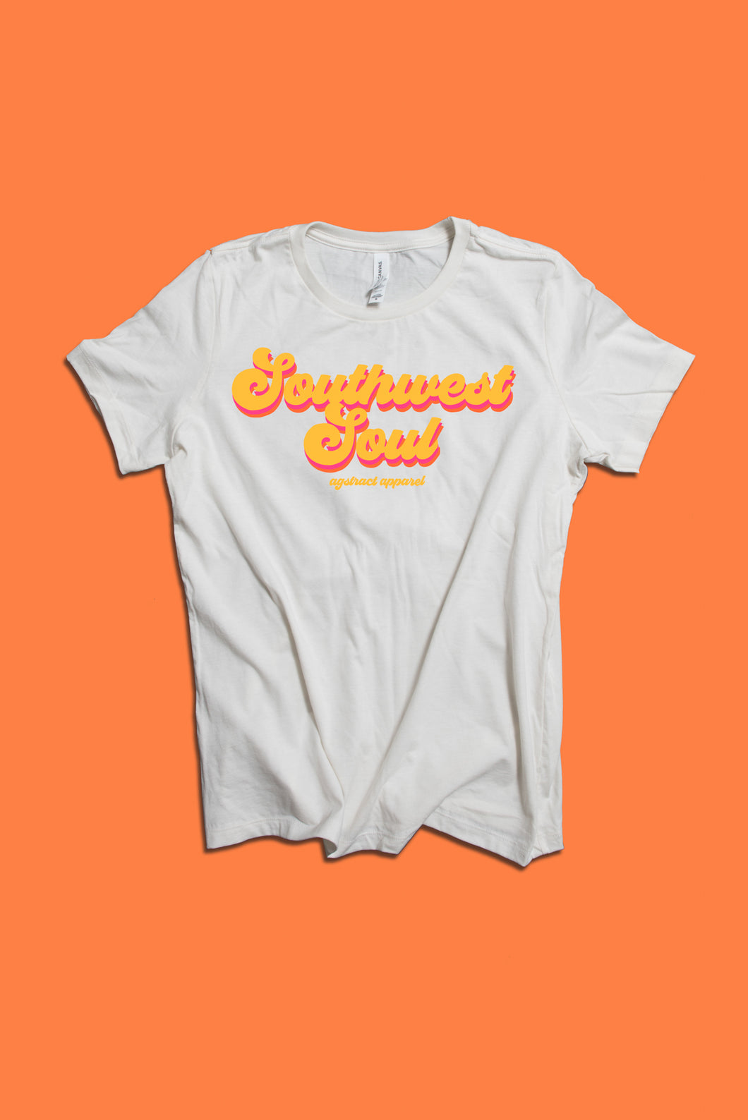 'Southwest Soul' Vintage White Tee , Orange Logo