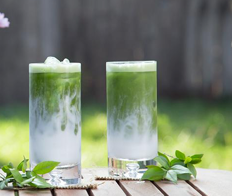 ICED COCONUT MILK SOURSOP MATCHA TEA