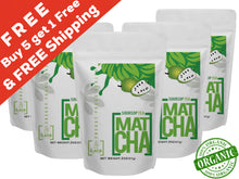 FREE Shipping 5 PACK Soursop Matcha Tea Powder + 1 FREE Pack (12 Oz -210 Servings) | The Flavor Project