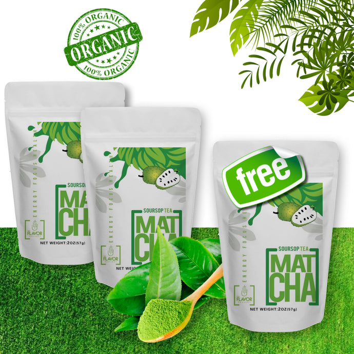 4oz Soursop Matcha Tea Powder + 2oz FREE (6oz, 105 Servings) | The Flavor Project