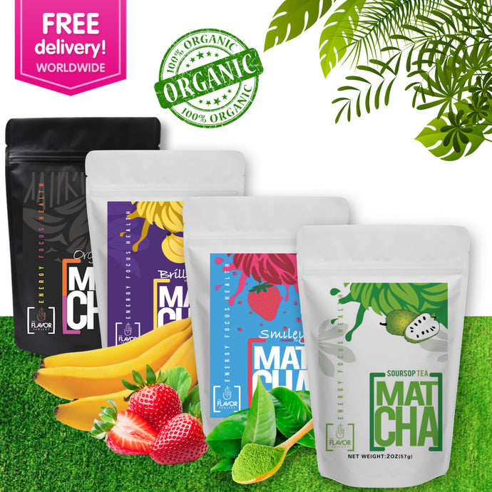 Fruit Infused Matcha Variety Set - 100% Natural | The Soursop Tea