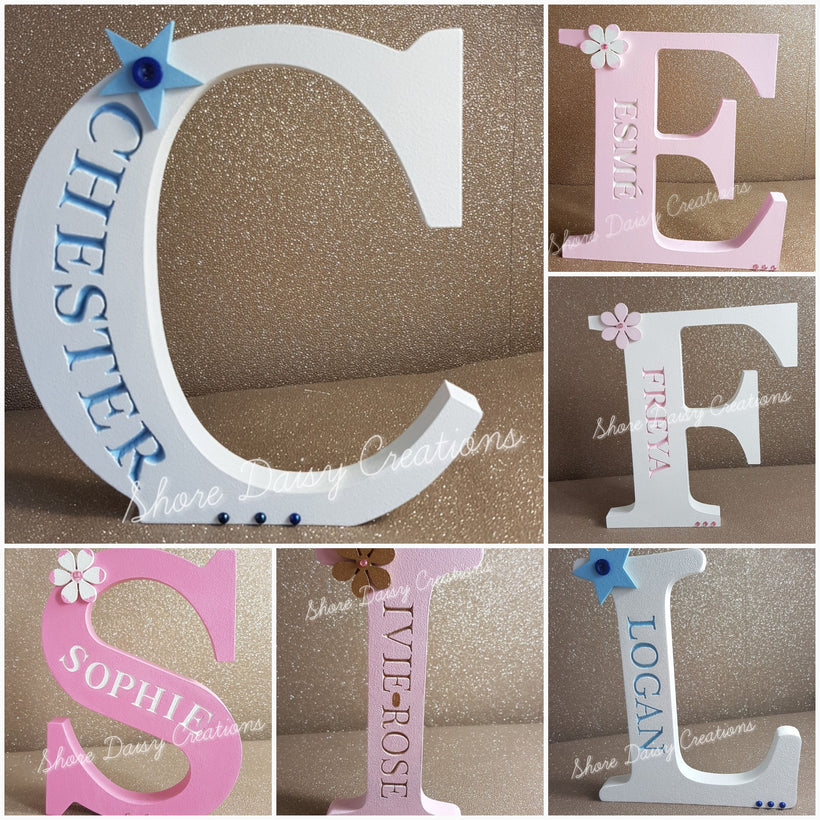 Freestanding Engraved Letters