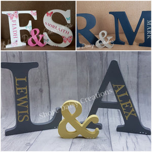Freestanding Engraved Letters (set of 2)