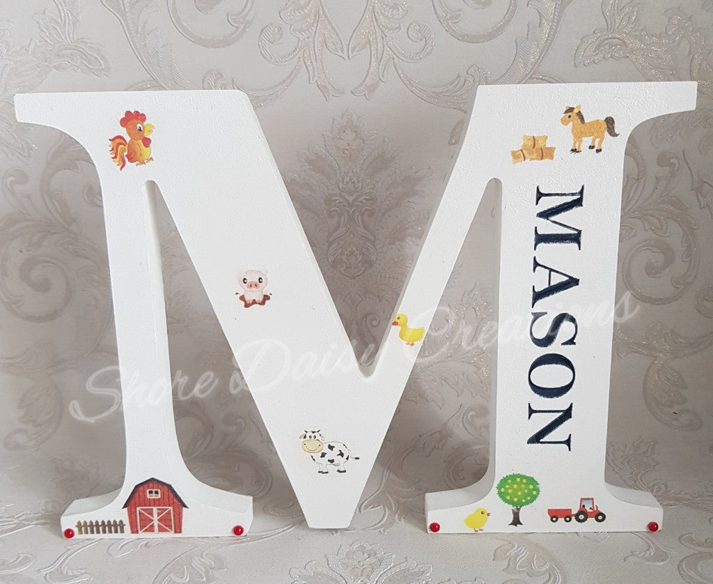 personalised farmyard letter