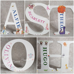 wooden name letters