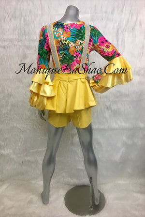 "Peplum Shorts ""Yellow"""