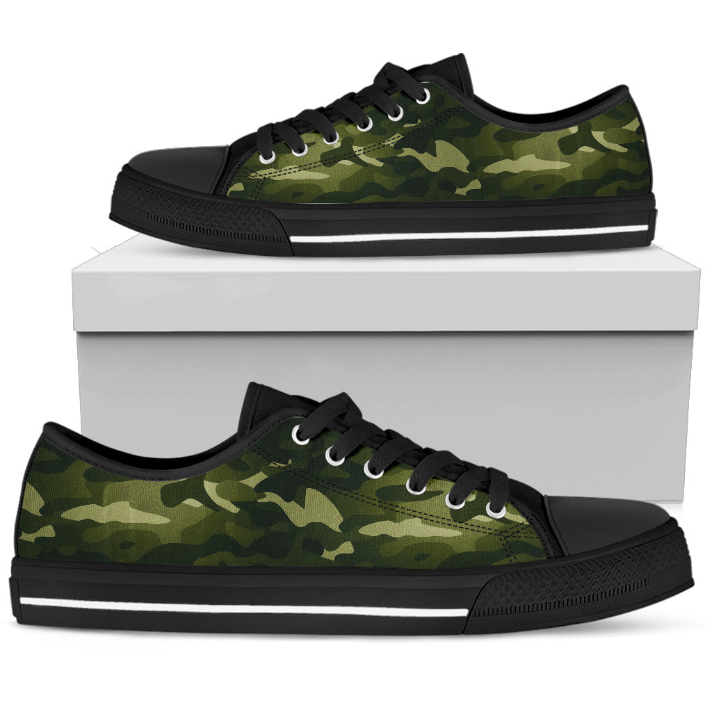 CAMOUFLAGE Green low top