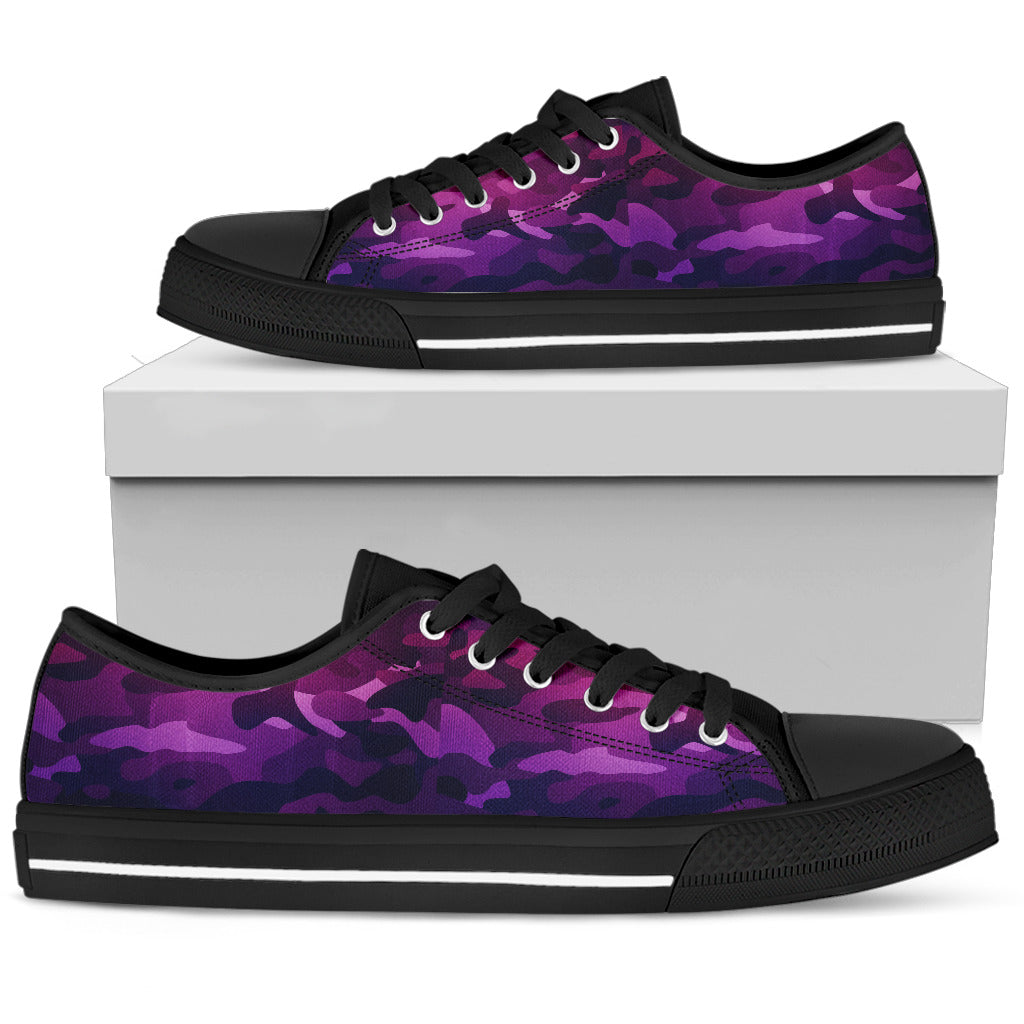 CAMOUFLAGE PURPLE low top