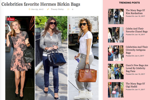 Best handbag Blog - Celeb Bags