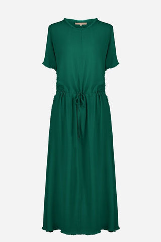 Crepe Lettice Dress
