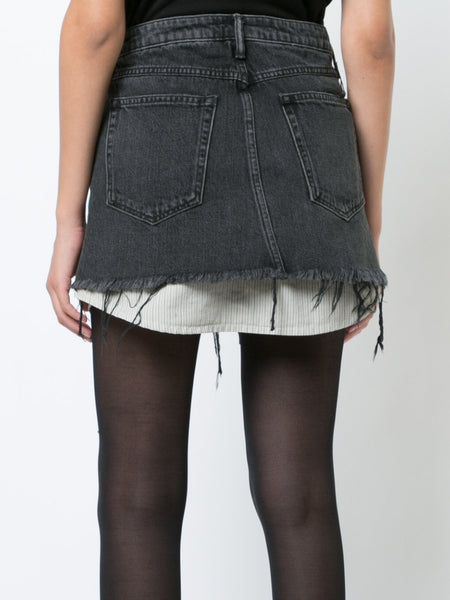 Hi Rise Denim Skirt