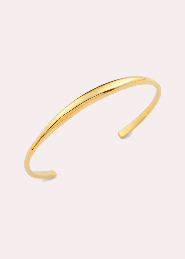 14K Orb Polished Cuff