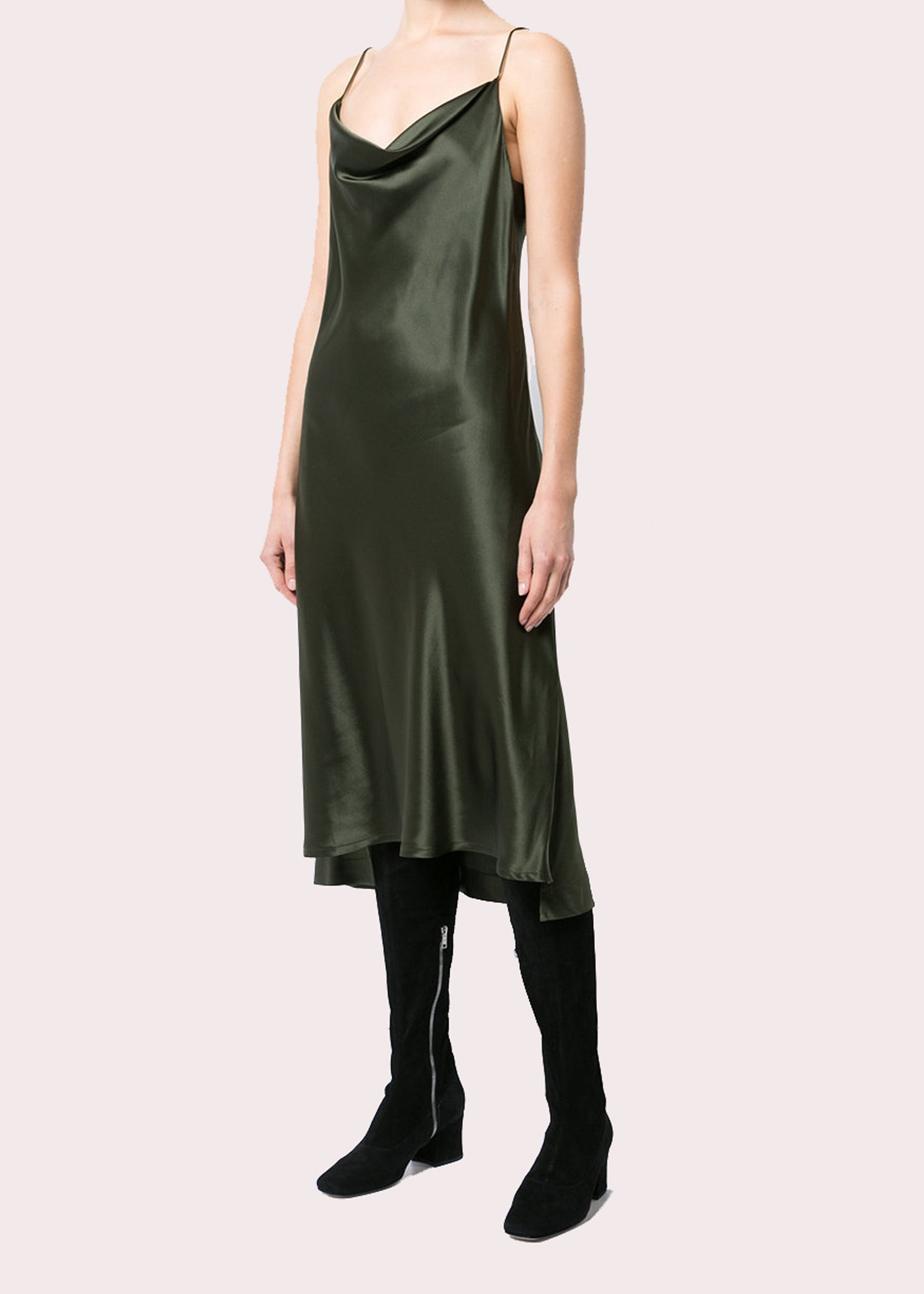 Draped Bias Slip Dress