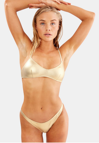 The Rachel Top- Gold