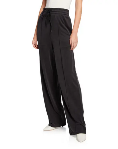 Cupro Jersey Wide-Leg Pants