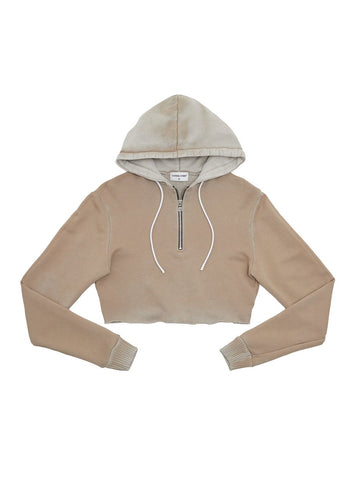 Brooklyn Crop Zip Sweatshirt