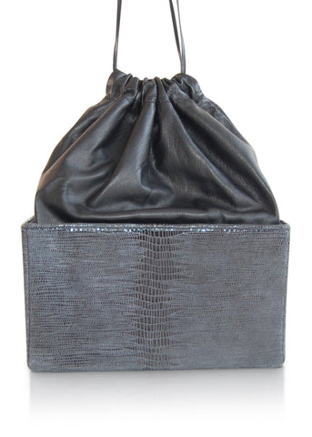 Box Bag - Black w/ Black Silk