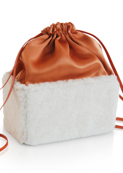 Box Bag - Shearling w/ Copper Silk