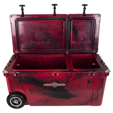 Image of Ike Approved 75Q Pioneer - Crimson Hard Cooler