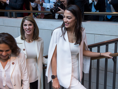 AOC in White Cape Blazer