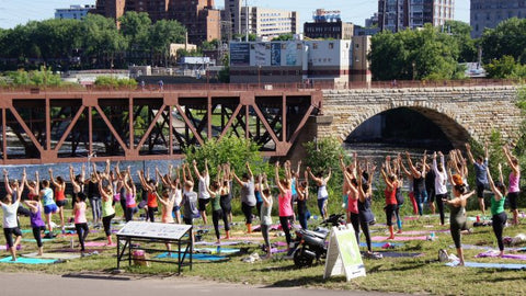 Market Yoga at Mill City Farmers market