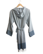 So. Cal Striped Bathrobe - KISA turkish towels artisan made crocheted jewelry boss lady clothing unique european clothing cape jackets