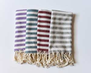 Load image into Gallery viewer, Waffle Weave Turkish Towel in Charcoal