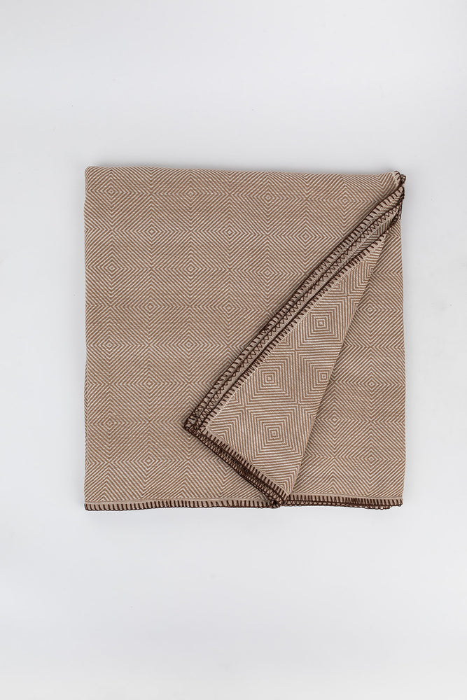 Diamond Blanket in Walnut with brown stitching