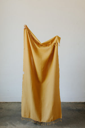 Load image into Gallery viewer, Waffle Weave Turkish Towel in Mustard