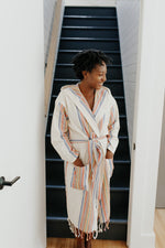 Women's Rainbow Linen Bathrobe