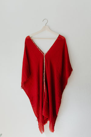 Soft Tunic Dress in Cherry