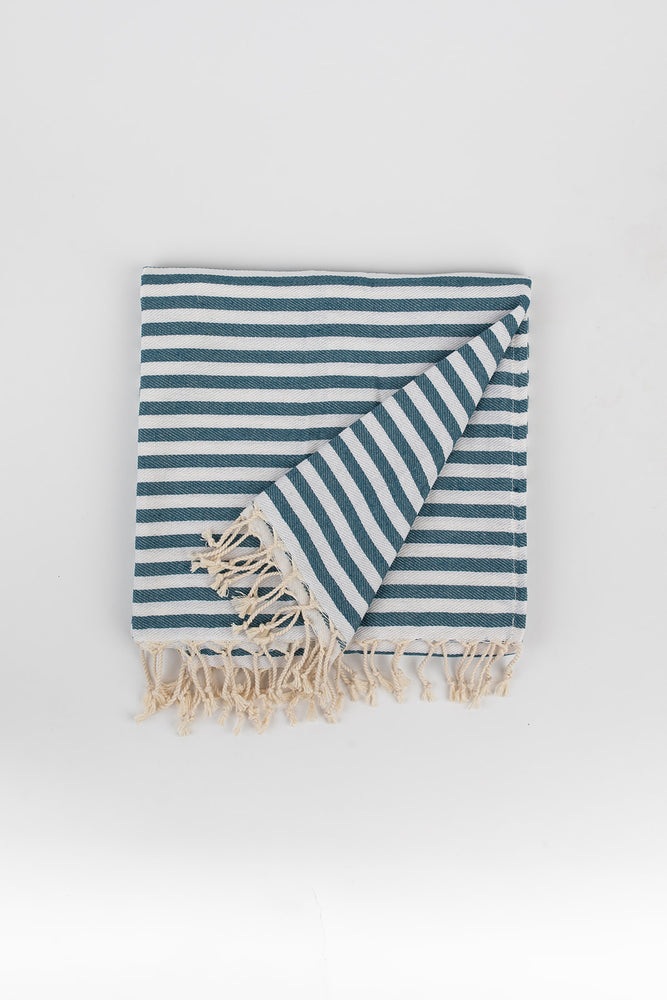Stripe Turkish Towel in Teal
