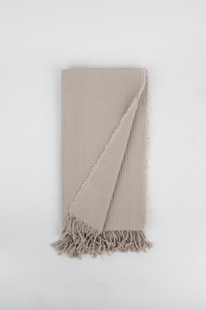 Load image into Gallery viewer, Waffle Weave Turkish Towel in Cream