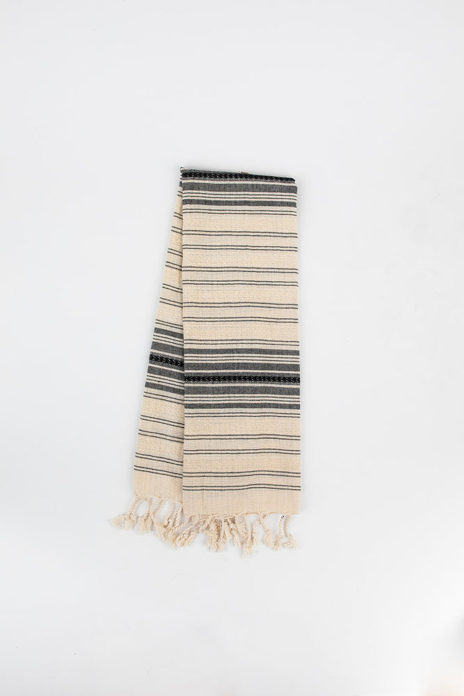 Load image into Gallery viewer, Ribbon Hand Towel in Charcoal