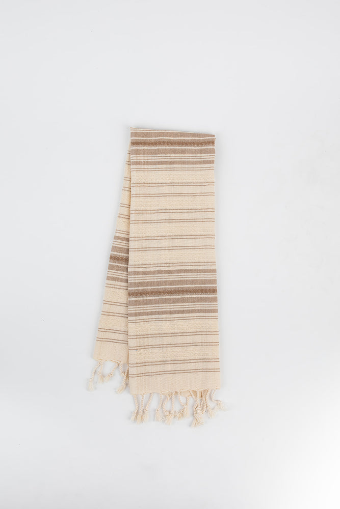 Ribbon Hand Towel in Walnut