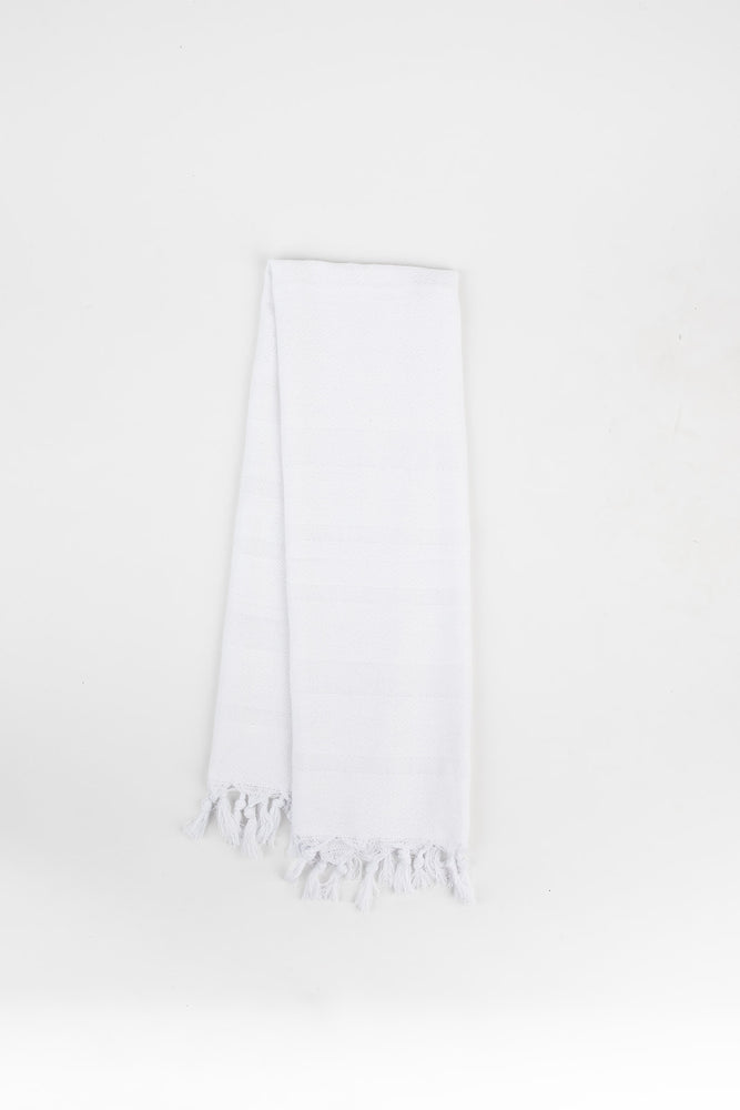Load image into Gallery viewer, Diamond Stripe Hand Towel in Snow