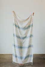 Ribbon Turkish Towel in Teal