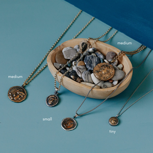 Byzantine Coin Necklace Sizes
