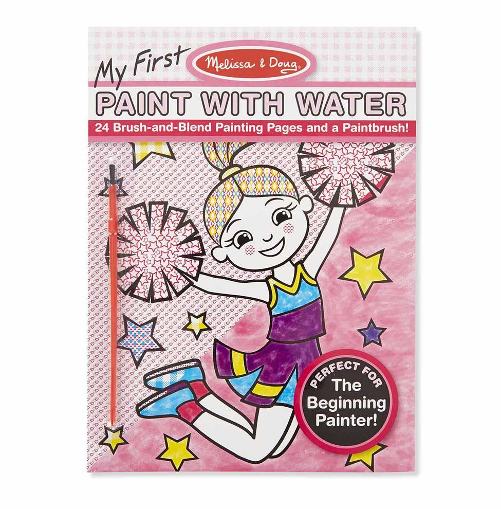 Melissa & Doug Paint with Water - Cheerleaders, Flowers, Fairies & More