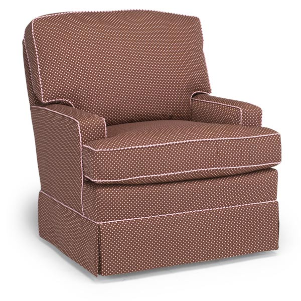 Riley Custom Fabric Nursery Swivel Glider Chair