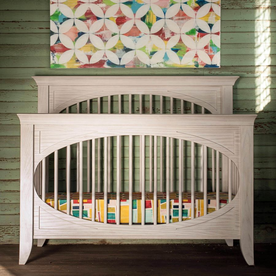 Milk Street Baby Cameo Oval Convertible Crib - Steam