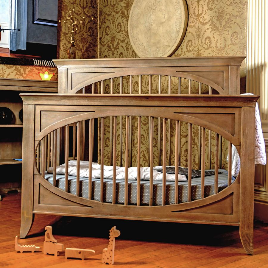 Milk Street Baby Cameo Oval Convertible Crib - Toast