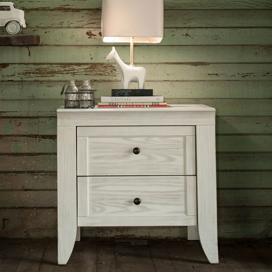 Milk Street Baby Cameo 2 Drawer Nightstand - Steam